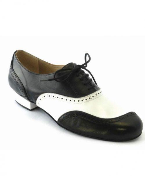 Tango Schuhe Herren Asimetrico schwarz weiß