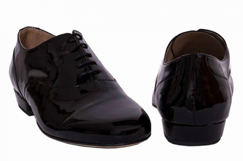Tango Schuhe Herren Lackleder schwarz